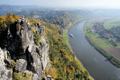View from the Bastei-Bridge, Germany Royalty Free Stock Photos