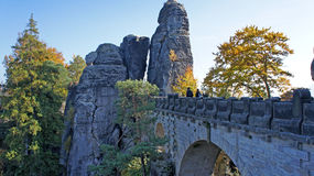 View on the Bastei-Bridge Stock Images
