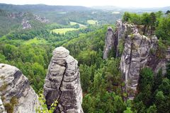 View from the Bastei on the river Elbe, Germany Stock Image