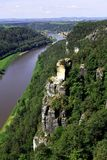 View from the Bastei on the river Elbe Royalty Free Stock Photography