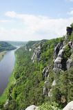 View from the bastion of the Elbe Stock Photo