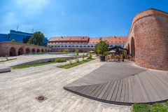 View of the bastion Maria Theresia from Timisoara, Romania. TIMISOARA, ROMANIA - AUGUST 24, 2016: View of the bastion Maria Theresia from Timisoara, Romania Royalty Free Stock Photo
