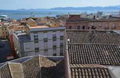View of Bastione Saint Remy at Cagliari, in Sardinia Stock Photography