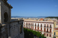 View of Bastione Saint Remy at Cagliari, in Sardinia Stock Image