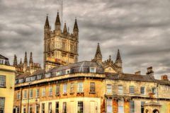 View of Bath Abbey - England Royalty Free Stock Photos