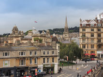 View of Bath old city centre Stock Images