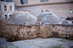 View of the bath in the Old City Icheri Sheher in Baku . Haji-Bani bathhouse in the old town Icheri Sheher of Baku, Azerbaijan. Stock Images