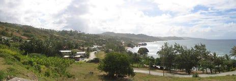 A view of Bathsheba, Barbados. A panoramic view of Bathsheba in Barbados royalty free stock photography