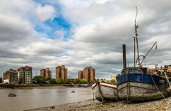 View from Battersea, London. royalty free stock photos