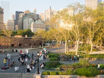 View of Battery Park in New York City stock photo