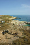View from 35 battle battery. Crimea Royalty Free Stock Photography