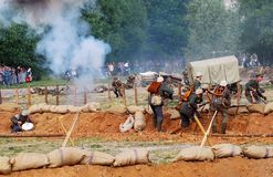 View of the battle field. Royalty Free Stock Image