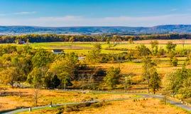 View of battlefields in Gettysburg, Pennsylvania. Stock Photography