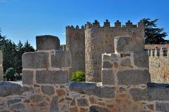 Walls of Ávila, Castilla y León, Spain. View of the battlements of the walls of Avila, Castilla y León, Spain Stock Photography