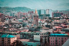 View on Batumi city from the port Royalty Free Stock Images
