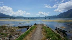 View on Batur lake, Bali, Indonesia Stock Image