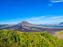 View on Batur Volcano on Bali island Royalty Free Stock Photos