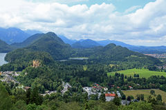 THE VIEW FROM BAVARIAS NEUSCHWANSTEIN CASTLE Royalty Free Stock Photos