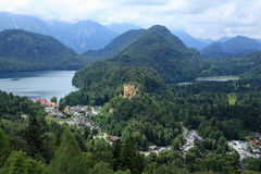 THE VIEW FROM BAVARIAS NEUSCHWANSTEIN CASTLE Royalty Free Stock Photo