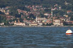 Baveno city on Maggiore Lake Royalty Free Stock Images