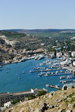 View of the bay of Balaklava in Crimea Royalty Free Stock Images