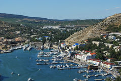 View of the bay of Balaklava in Crimea Stock Photos