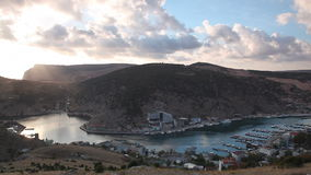 View of a bay in Balaklava stock video footage