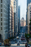 View Of Bay Bridge On California Street San Francisco Royalty Free Stock Photography
