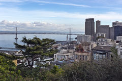 View of the Bay Bridge from Coit Tower Stock Image