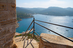 View of the bay of Cabrera. Look at the bay of the island cabrera royalty free stock photography