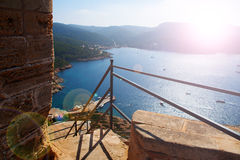 View of the bay of Cabrera. Look at the bay of the island cabrera stock image