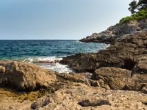 View from the bay of canyamel, mallorca, Balearic Islands. On a sunny day Royalty Free Stock Images