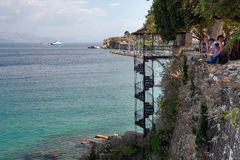 View on the bay of Corfu, Greece Stock Photography
