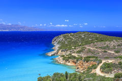 View of the bay of Crete. Greece. Sea view in Crete island. Greece Royalty Free Stock Photos
