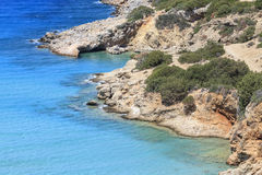 View of the bay of Crete. Greece. Sea view of the bay in Crete island. Greece Stock Photography