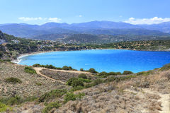 View of the bay of Crete. Greece. Sea view of the bay in Crete island. Greece Stock Images
