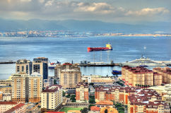 View on the Bay of Gibraltar Stock Photo