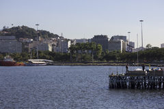 View of the Bay of Guanabara - Olympic Sailing Stock Image