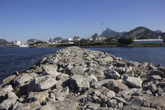 View of the Bay of Guanabara - Olympic Sailing Stock Photography