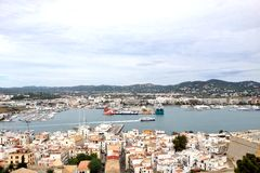 View of the bay in Ibiza Stock Photo
