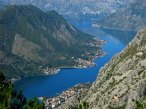 View of the Bay of Kotor 2 Stock Images
