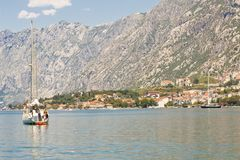 View on bay of Kotor Stock Image