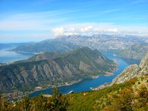 View of the Bay of Kotor 4. Montenegro Bay of Kotor view nature landscapes Stock Images