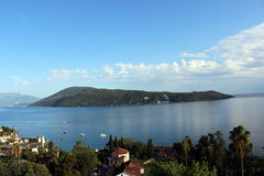 View of the Bay of Kotor and Herceg Novi. In Montenegro Stock Photo