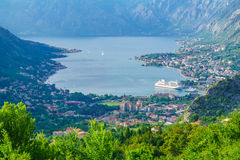 View of the Bay of Kotor from Lovcen Mountain Royalty Free Stock Photos