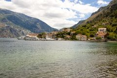 View on bay of Kotor - Montenegro Stock Image