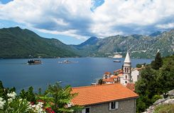 View of the Bay of Kotor, Montenegro Royalty Free Stock Image