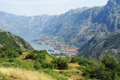 View at the bay of Kotor Stock Images