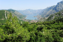 View at the bay of Kotor Stock Image
