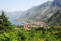 View at the bay of Kotor Royalty Free Stock Image